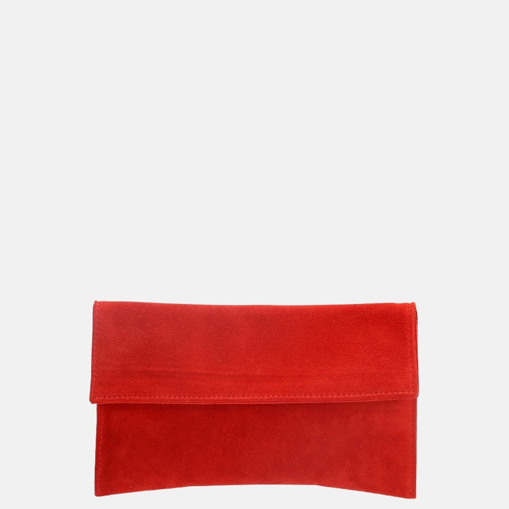 Charm London Leather Elisa clutch red
