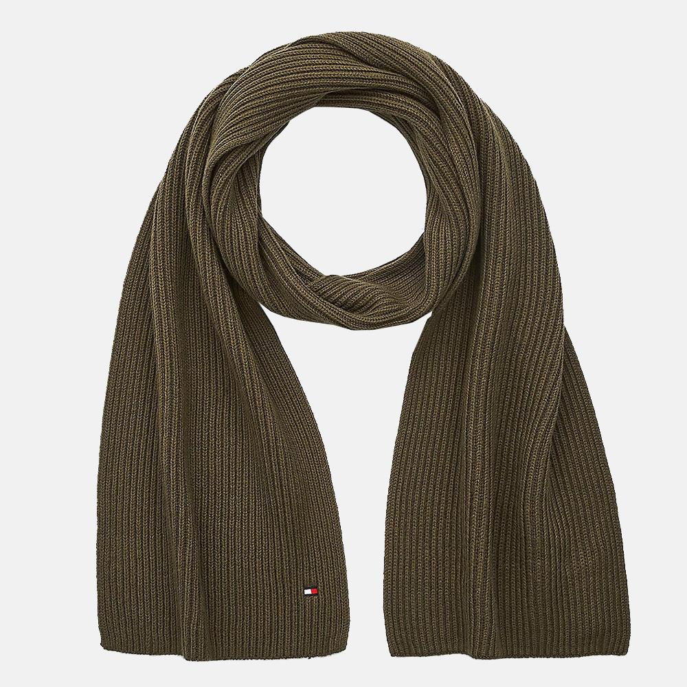 Tommy Hilfiger Pima Cotton sjaal olivewood