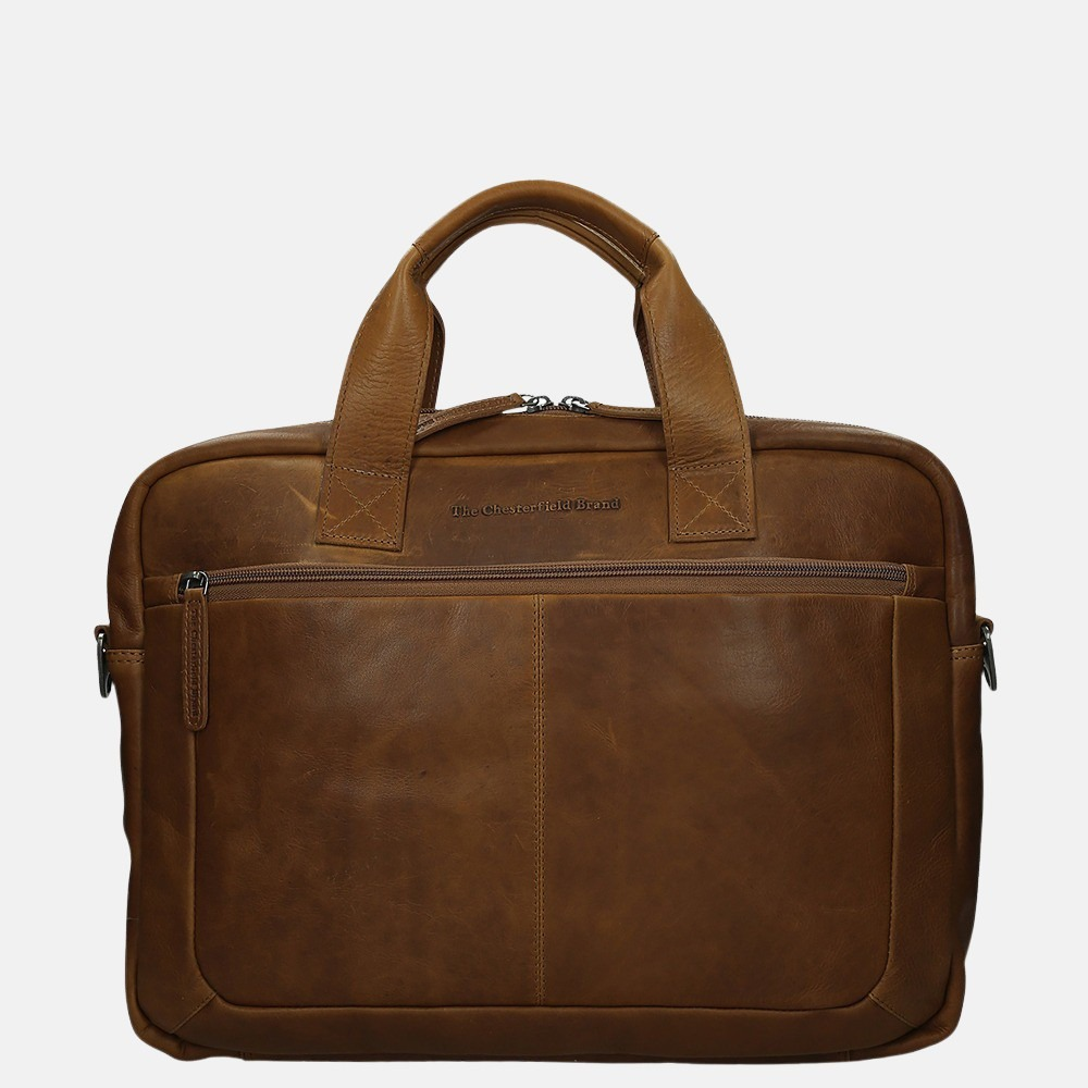 Chesterfield Calvi laptoptas 15.6 inch cognac