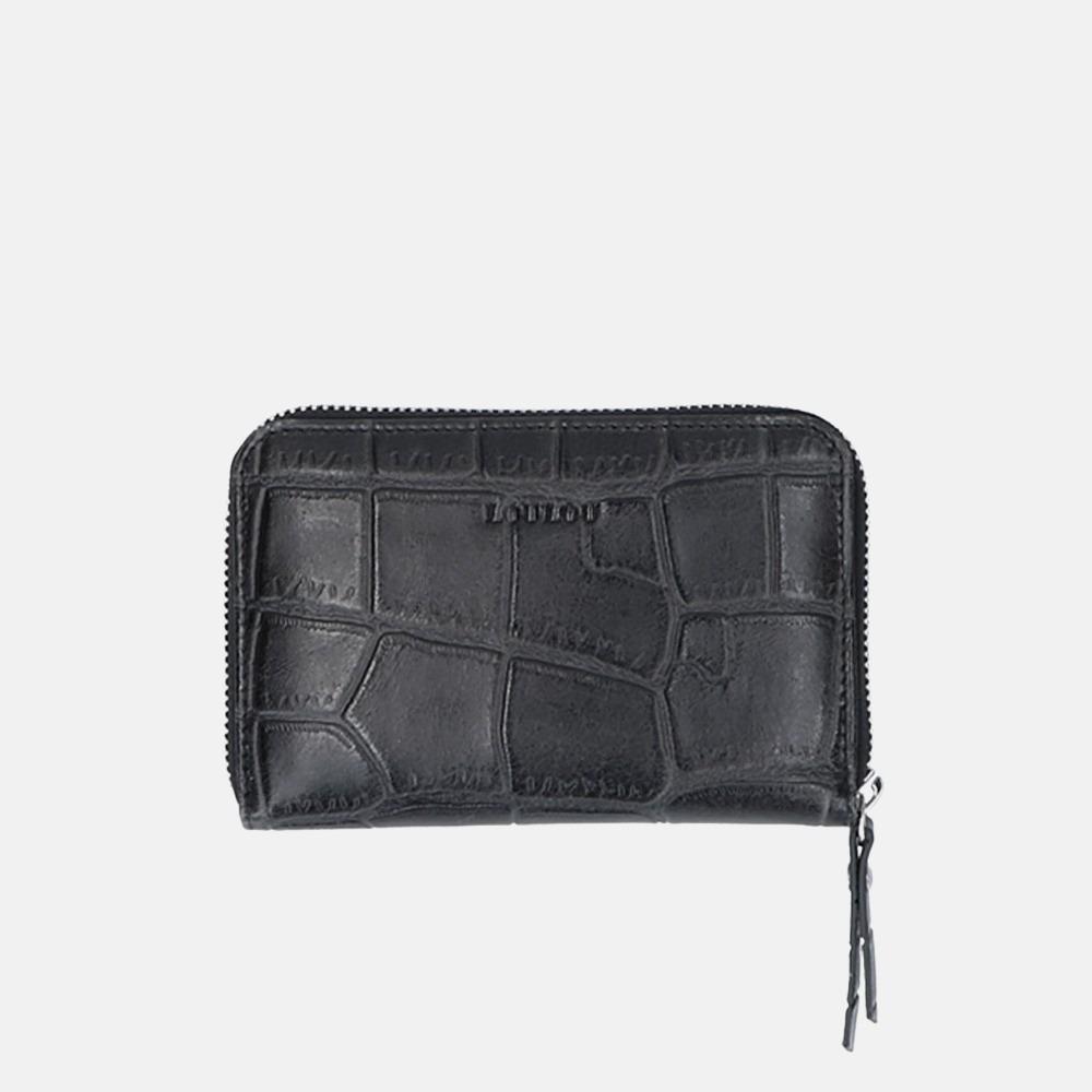 LouLou Essentiels Vintage Croco portemonnee black