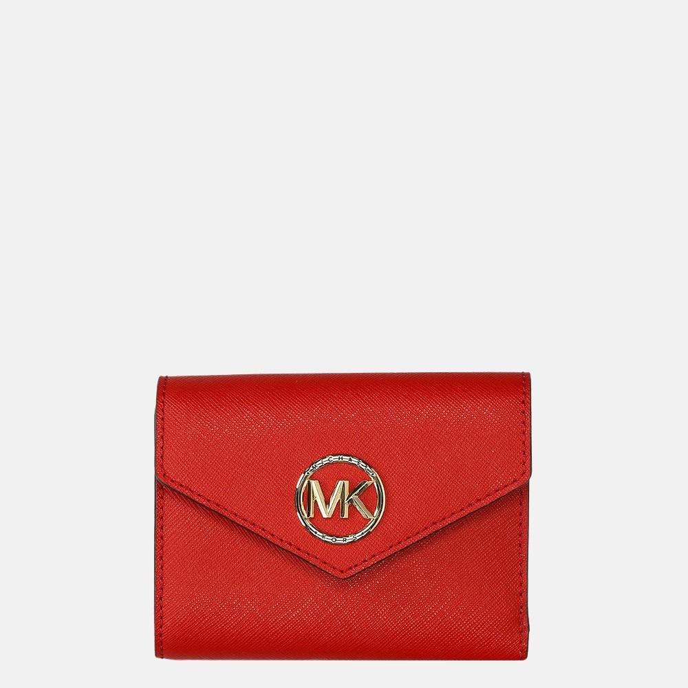 Michael Kors Carmen portemonnee medium bright red