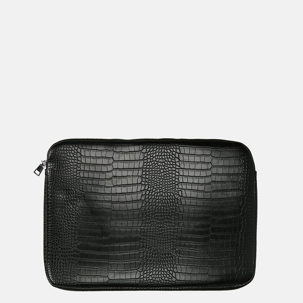 HVISK laptophoes mat croco 13 inch black