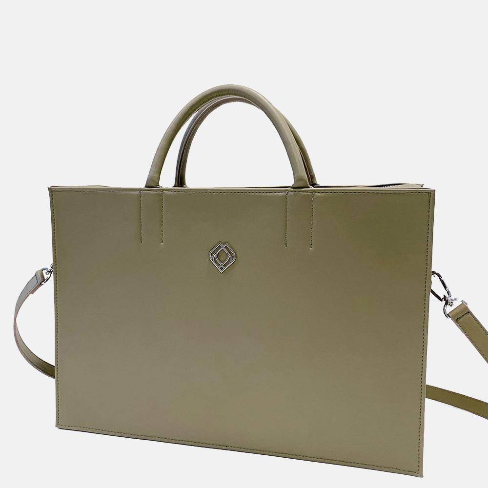 Trashious Businessbag handtas 15 inch appelleer olijfgroen