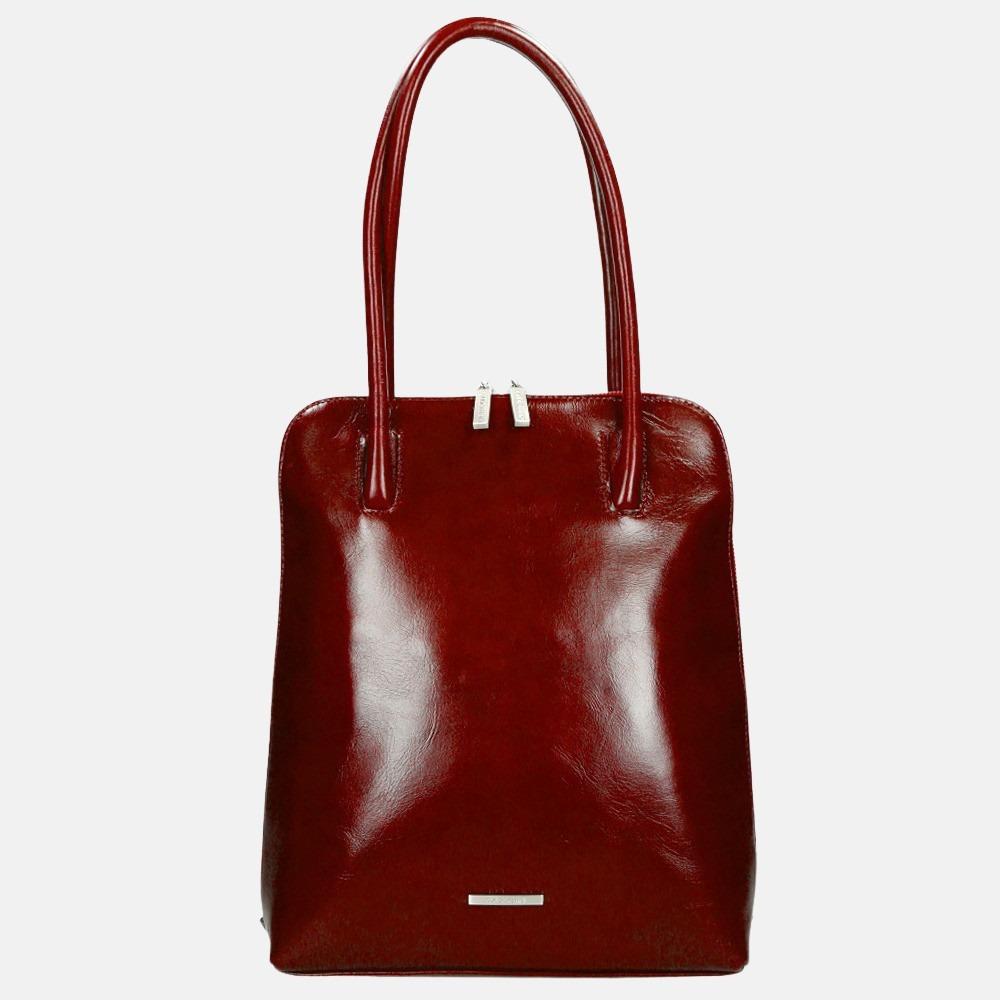 Claudio Ferrici Classico shopper/rugzak red