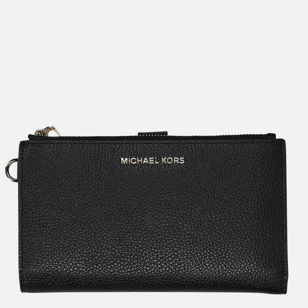 Michael Kors Jet Set Double Zip Wristlet portemonnee black