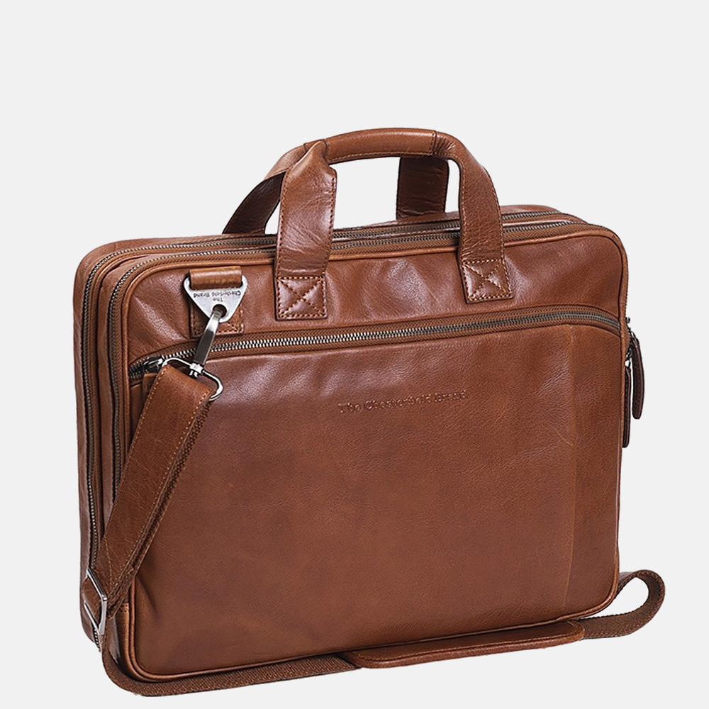 Chesterfield Manuel laptoptas 15.4 inch cognac