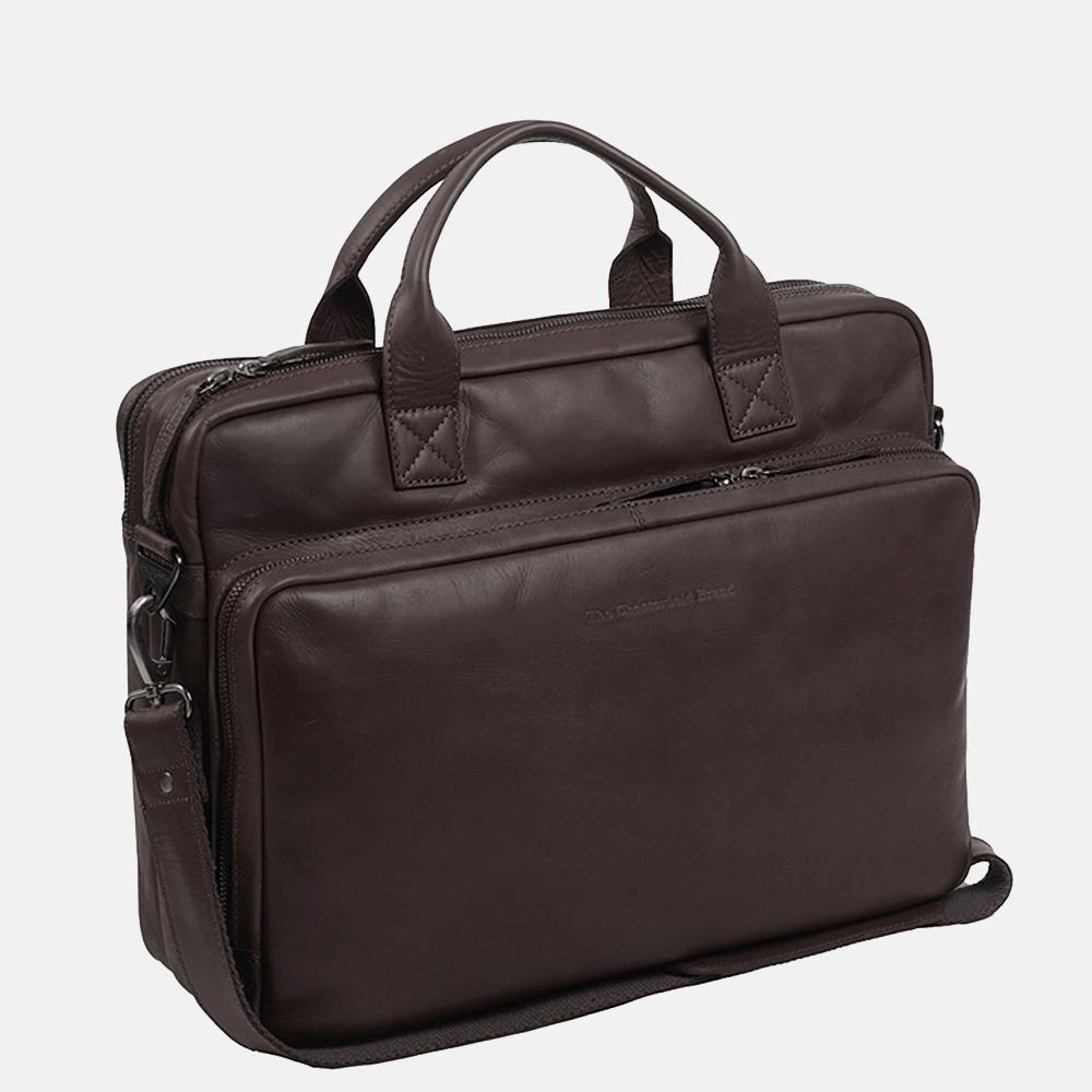 Chesterfield Jackson laptoptas 15 inch dark brown