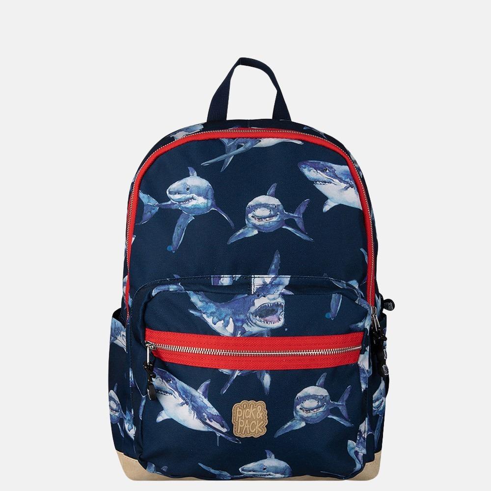 Pick & Pack Shark kinderrugzak L navy