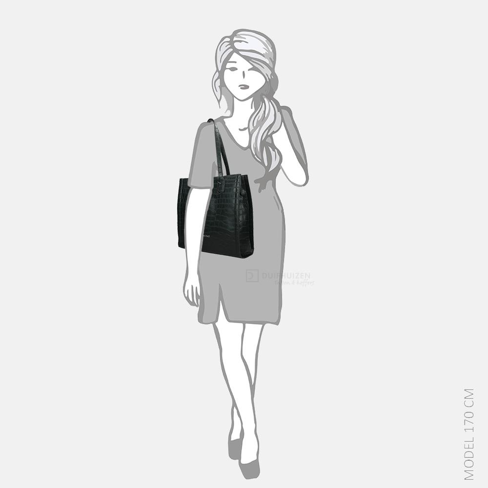 Valentino Bags JUNIPER shopper nero/rosso