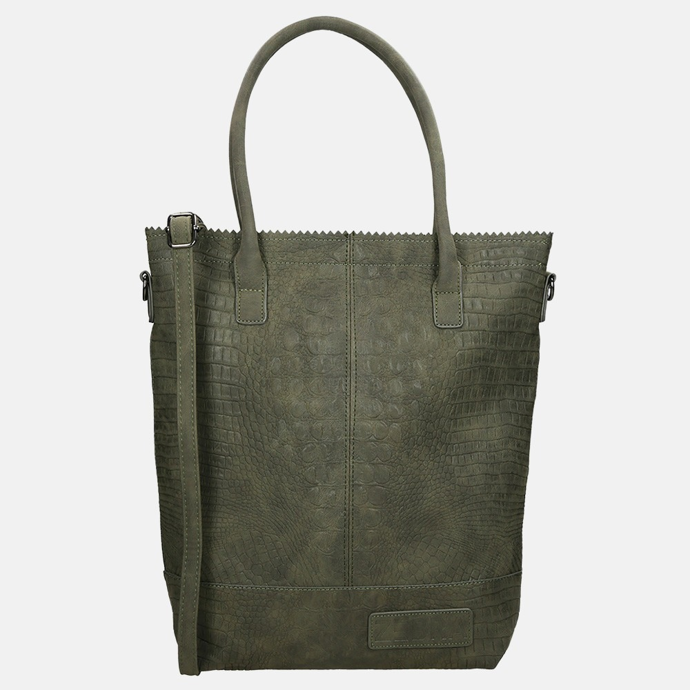 Zebra Trends Natural Bag shopper army