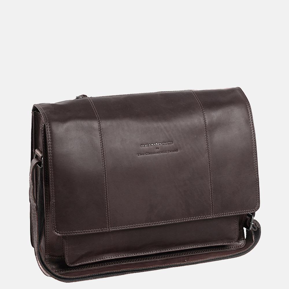 Chesterfield Gent laptoptas/fietstas 15.6 inch dark brown