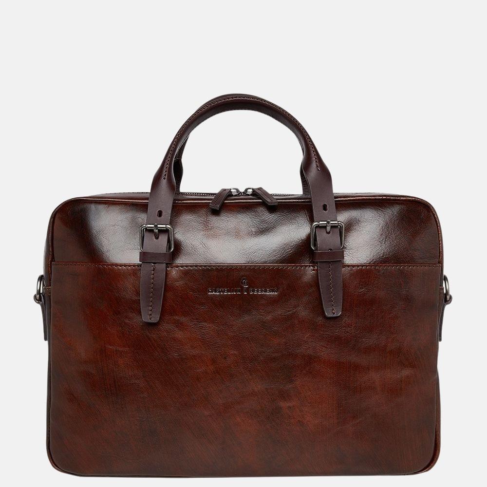 Castelijn & Beerens Rien laptoptas 15.6 inch cognac