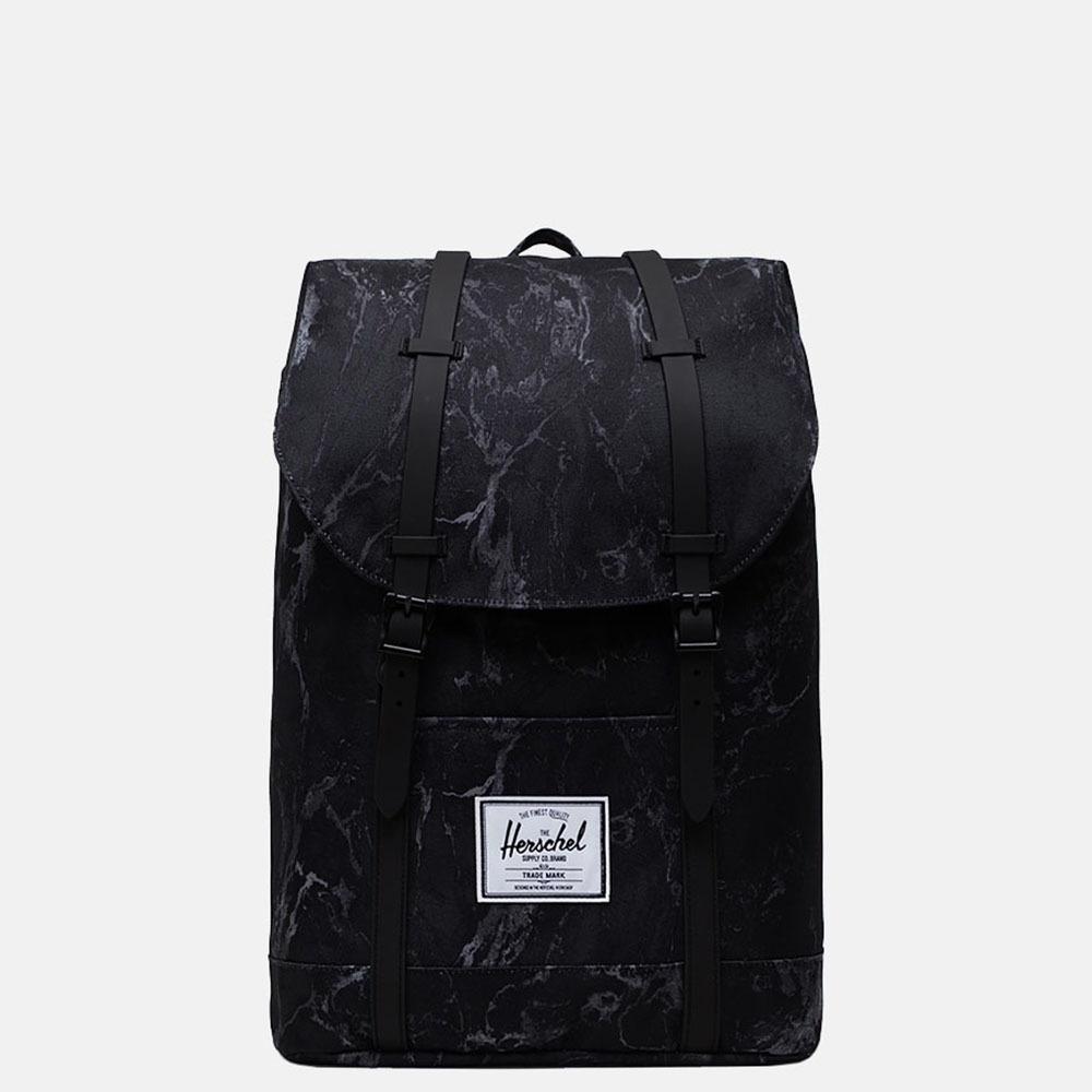 Herschel Retreat rugzak 15 inch black marble