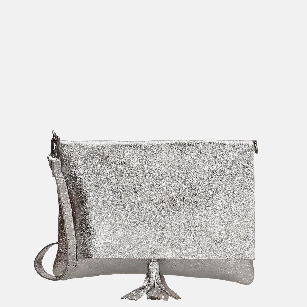 Charm London Elisa clutch/ crossbody tas dark silver