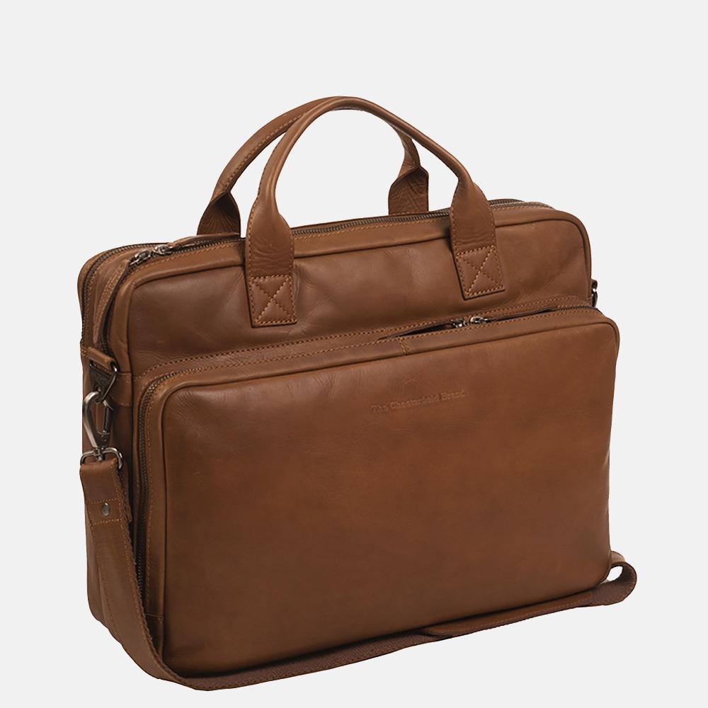 Chesterfield Jackson laptoptas 15 inch cognac