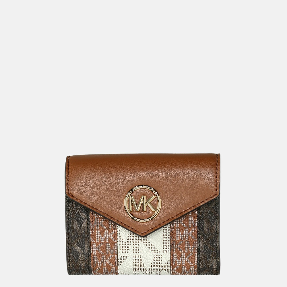 Michael Kors Trifold portemonnee M luggage multi