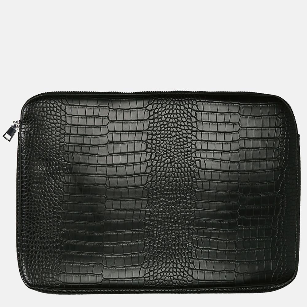 HVISK laptophoes mat croco 15 inch black