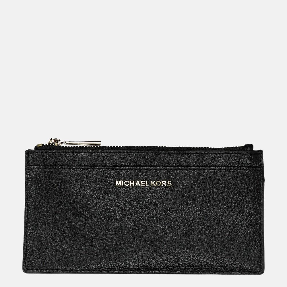 Michael Kors Large Pebbled Leather Card Case portemonnee black